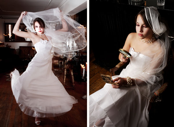 white buterfly wedding dress