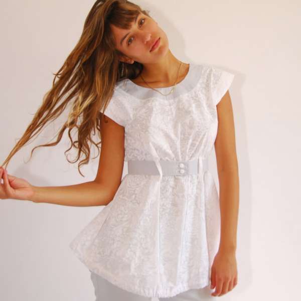 White Empire Tunic