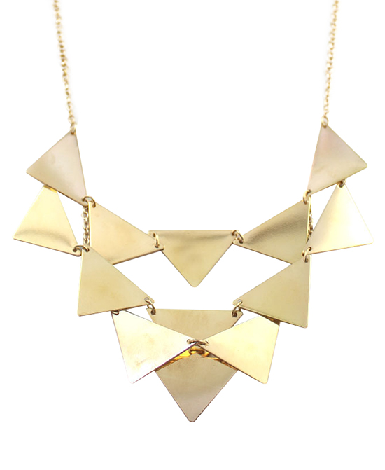 Gold Triangle Pattern Alloy Necklace