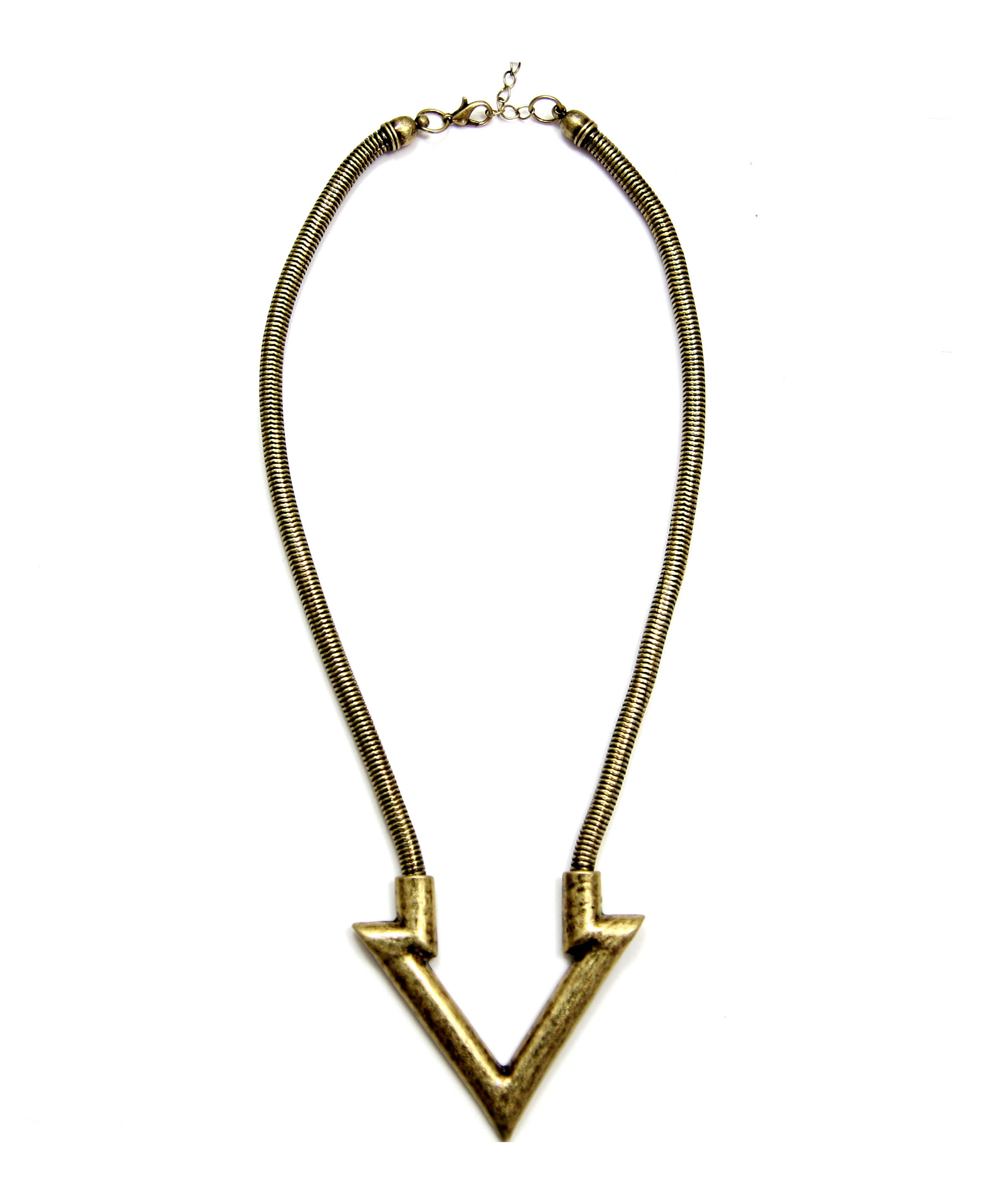 Alloy Necklace with Triangle Pendant