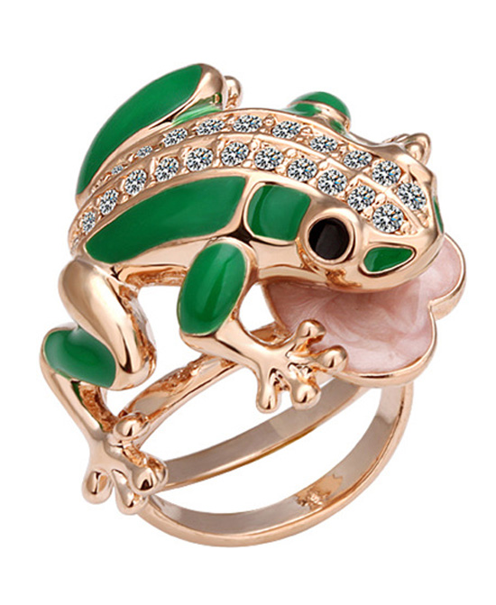 Gilding Frog Ring