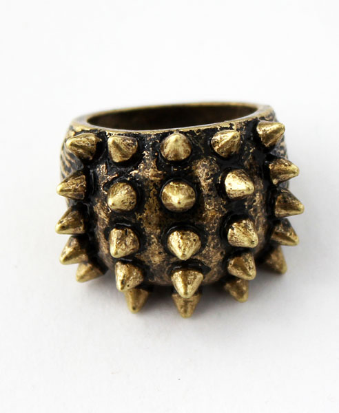 Tarnished Spike Ring in Punk Style
