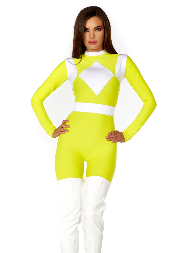 WOMEN'S DOMINANCE ACTION FIGURE YELLOW CATSUIT