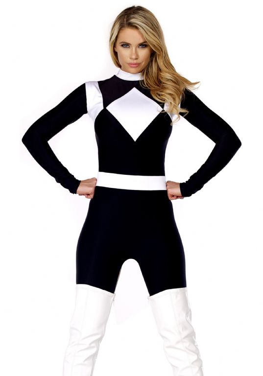 WOMEN'S DOMINANCE ACTION FIGURE BLACK CATSUIT