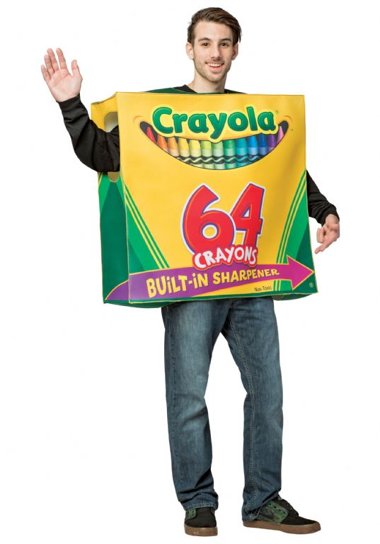 תחפושת CRAYOLA 64-PIECE CRAYON BOX