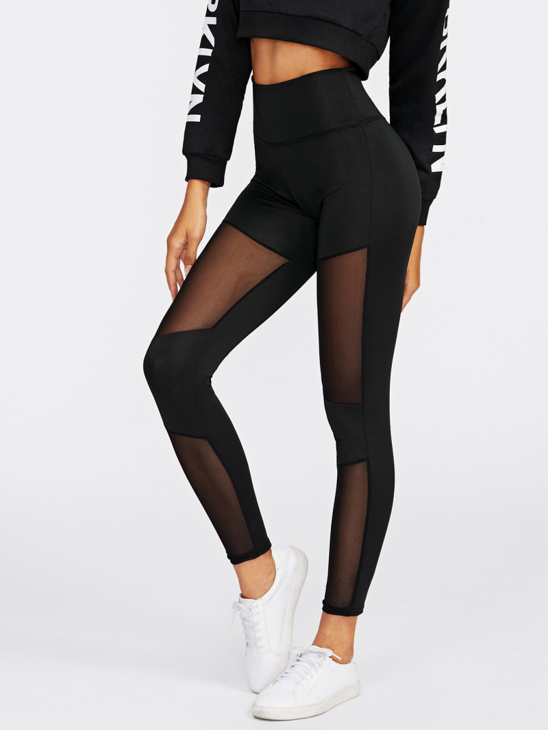 Stitching Mesh Leggings
