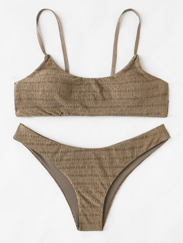 Shirred Cami Bikini Set