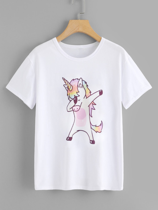 Cartoon Print Tshirt