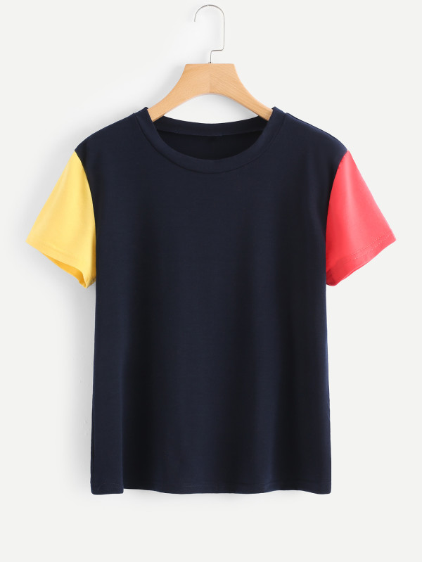 Colorblock Sleeve Tee
