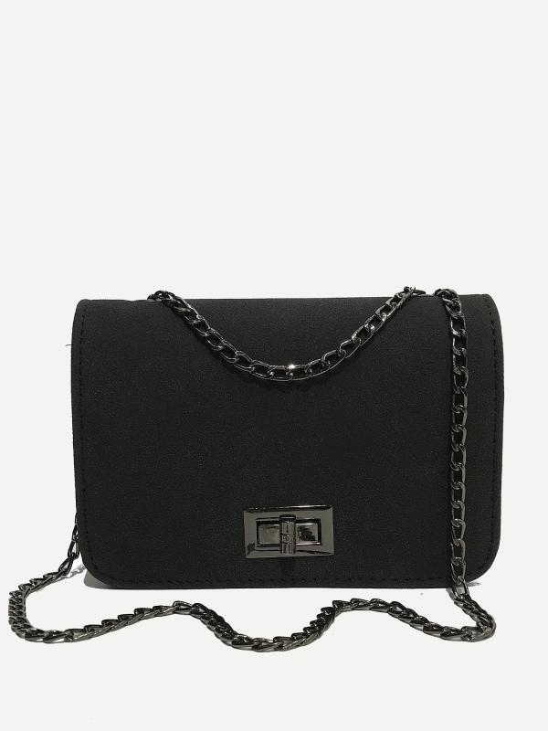 PU Flap Chain Bag