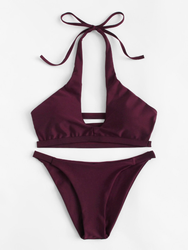 Ladder Cut Out Bikini Set