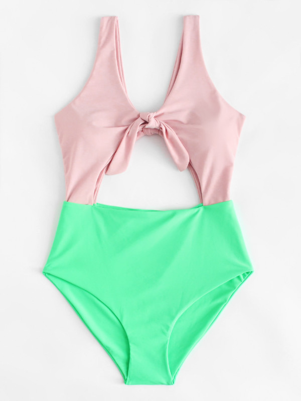 Two Tone Knot Swimsuit