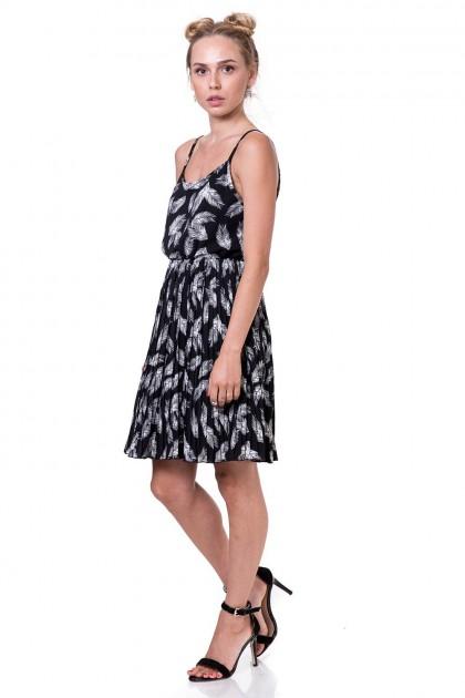 שמלת פליסה נוצות